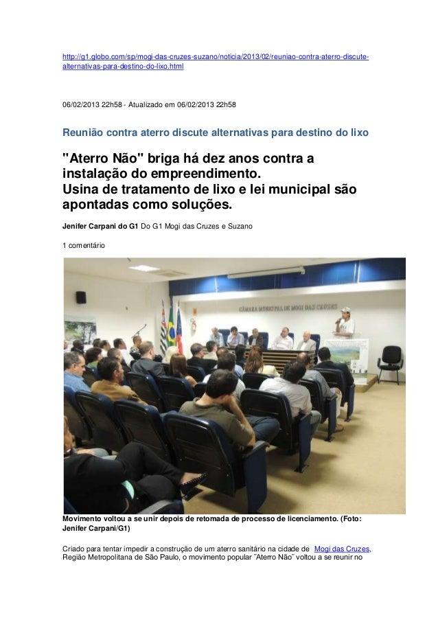 http://g1.globo.com/sp/mogi-das-cruzes-suzano/noticia/2013/02/reuniao-contra-aterro-discute- alternativas-para-destino-do-...