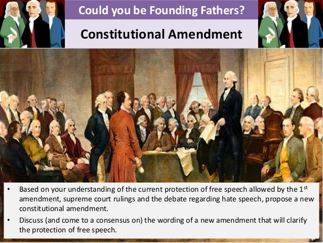 1st amendment constitution essay Read this history other essay and over 88,000 other research documents the first amendment the first amendment the first amendment to the us constitution is part of our countries bill of.