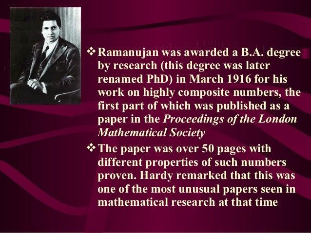 Talk on Ramanujan
