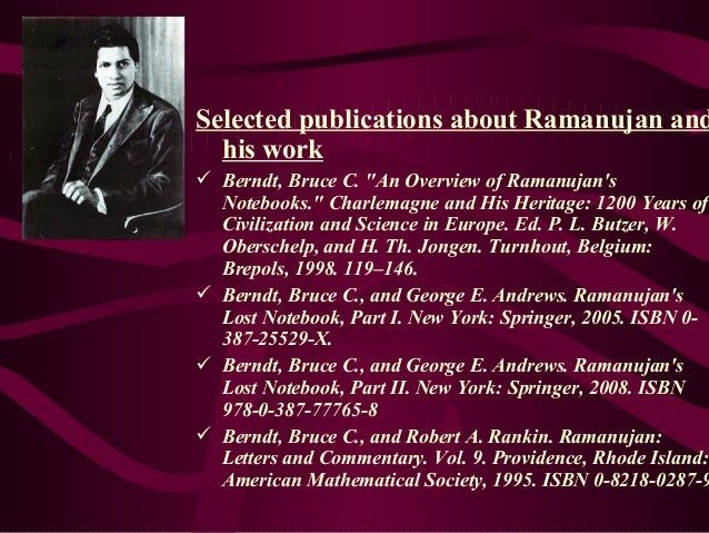 ramanujan lost notebook part 1 pdf