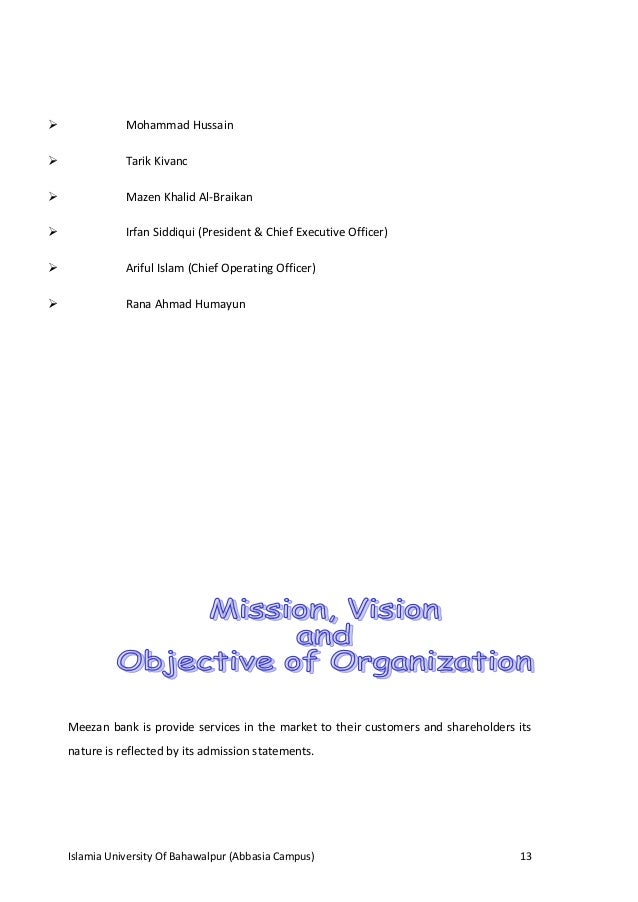 Executive Summary Meezan Bank