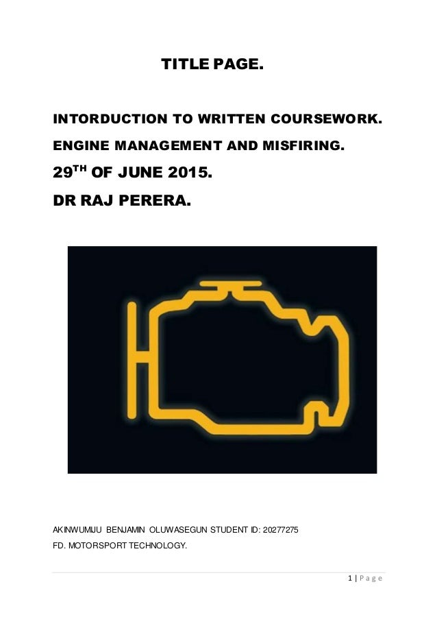 P.e.p coursework introduction