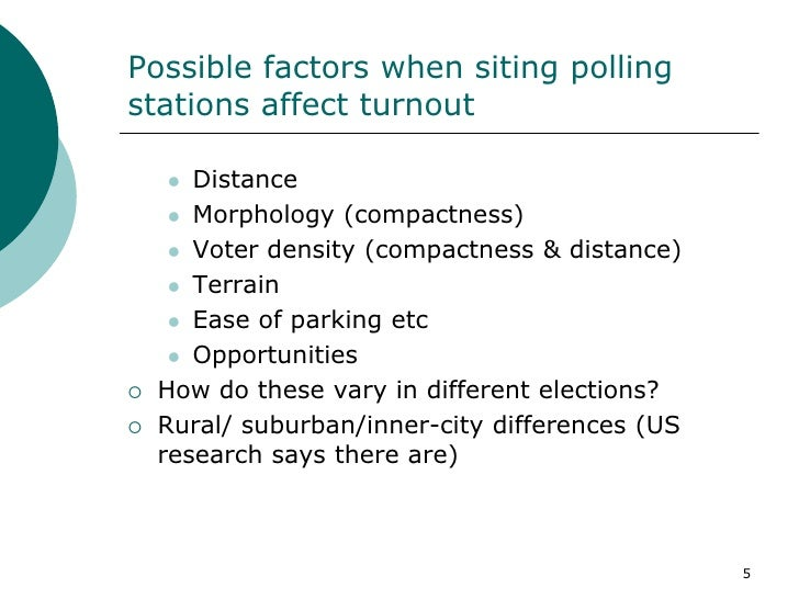 the different factors affecting the youth voting turnout The overall voter turnout rates provided on this site cannot reveal who among the electorate voted for a demographic profile of the electorate, we must turn to surveys for a demographic profile of the electorate, we must turn to surveys.