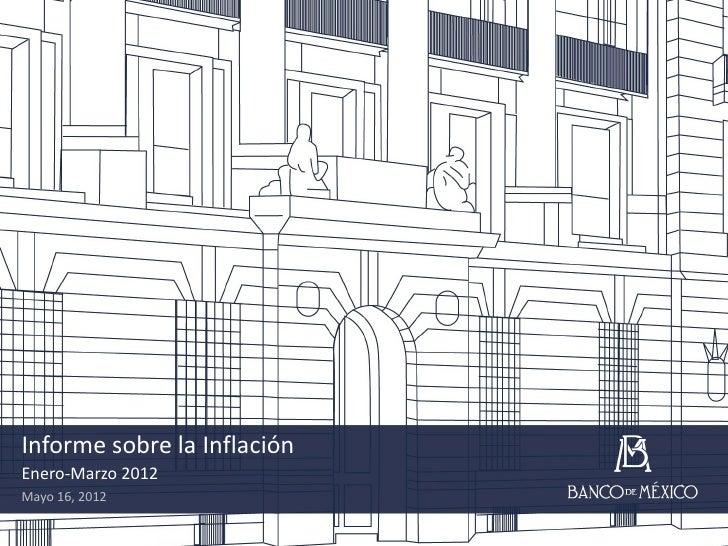 Informe sobre la InflaciónEnero-Marzo 2012Mayo 16, 2012