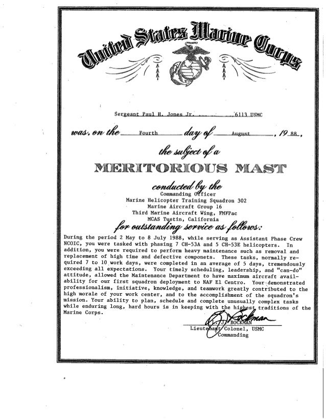 Meritorious Mast Award August 1988 pdf