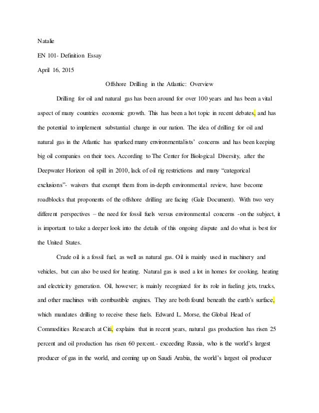 Offshore oil drilling essay