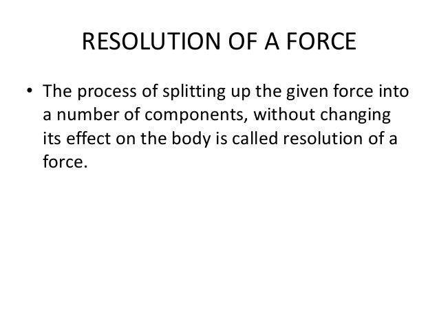 composition and resolution of forces pdf