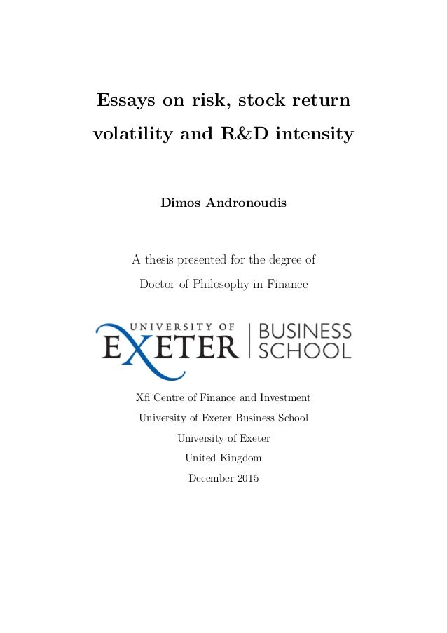 university of exeter xfi centre for finance and investment