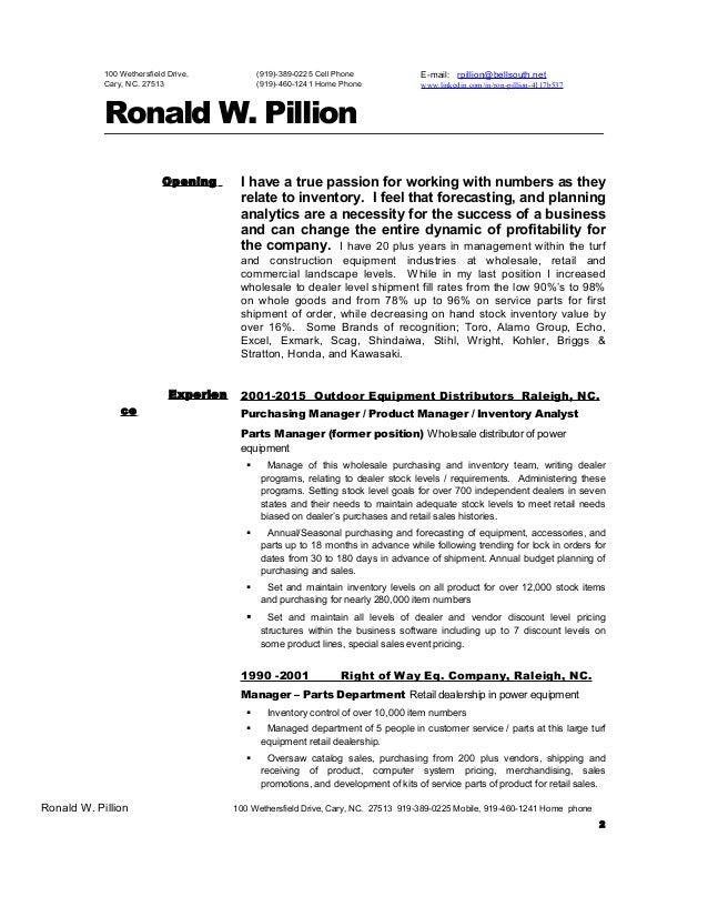 rpillion on line inventory resume
