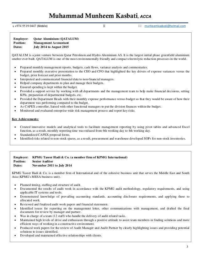 CV and Cover Letter - Munheem