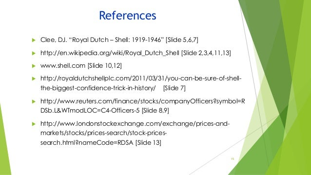Royal Dutch Shellgroup 1section D