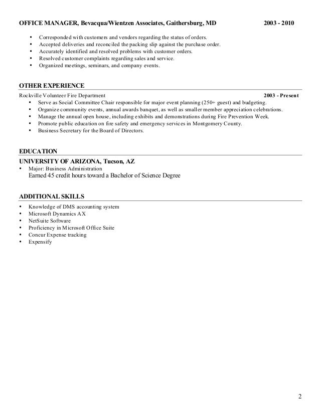 Shelly Bevacqua - Resume - Administrative Assistant