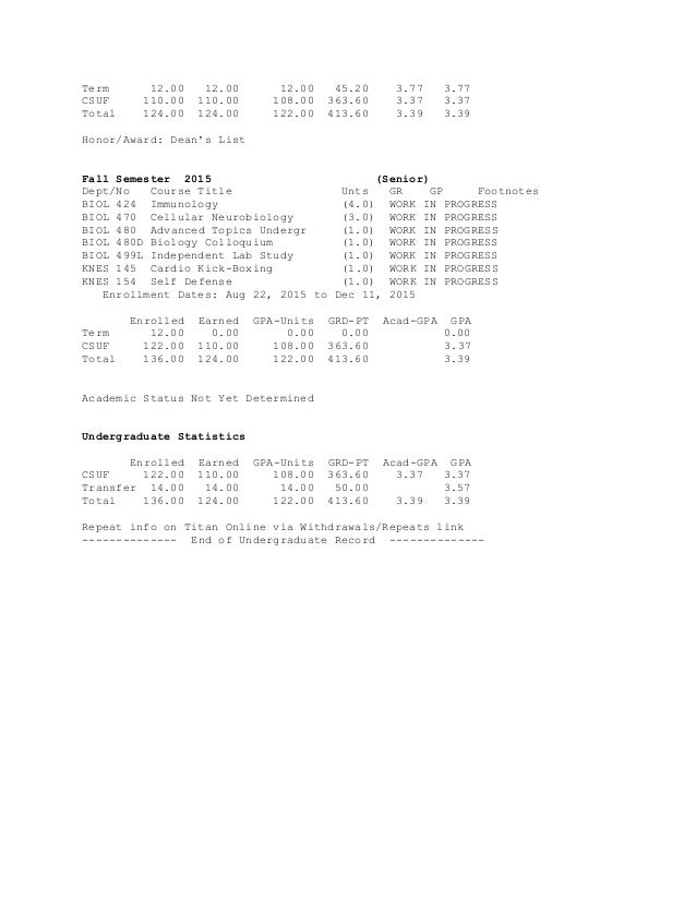 Unofficial student academic record2015jacoby gpa 4 ccuart Image collections