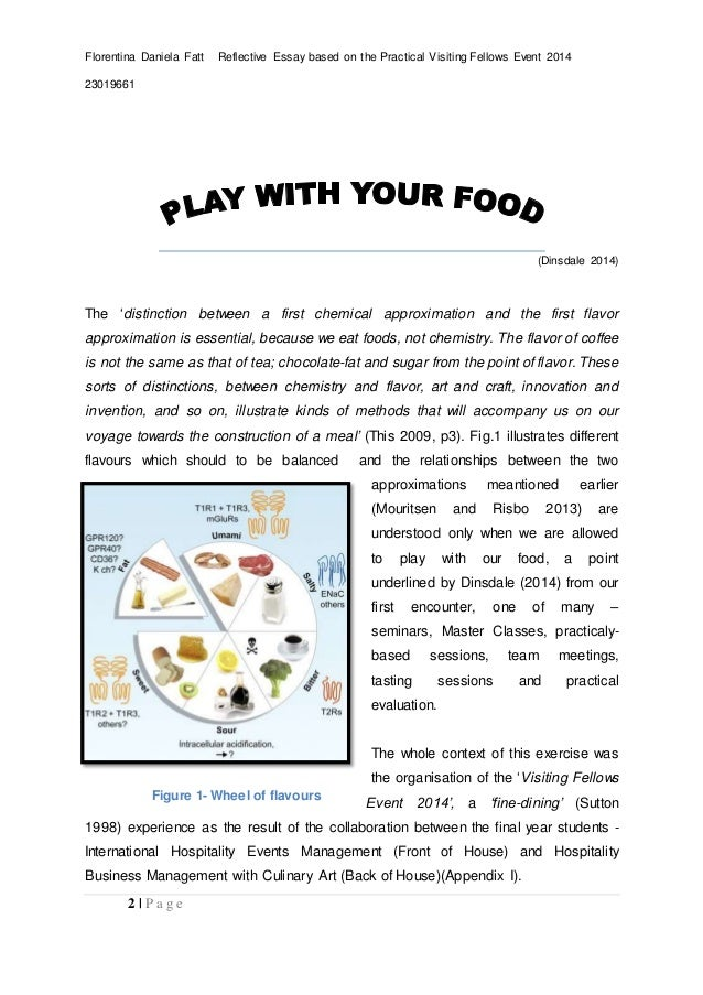 culinary development and innovation essay  2 florentina daniela fatt reflective essay