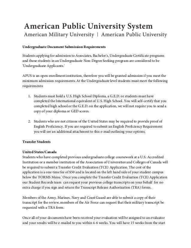 Undergraduate Document Submission
