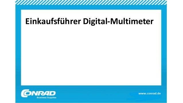 Einkaufsführer Digital-Multimeter