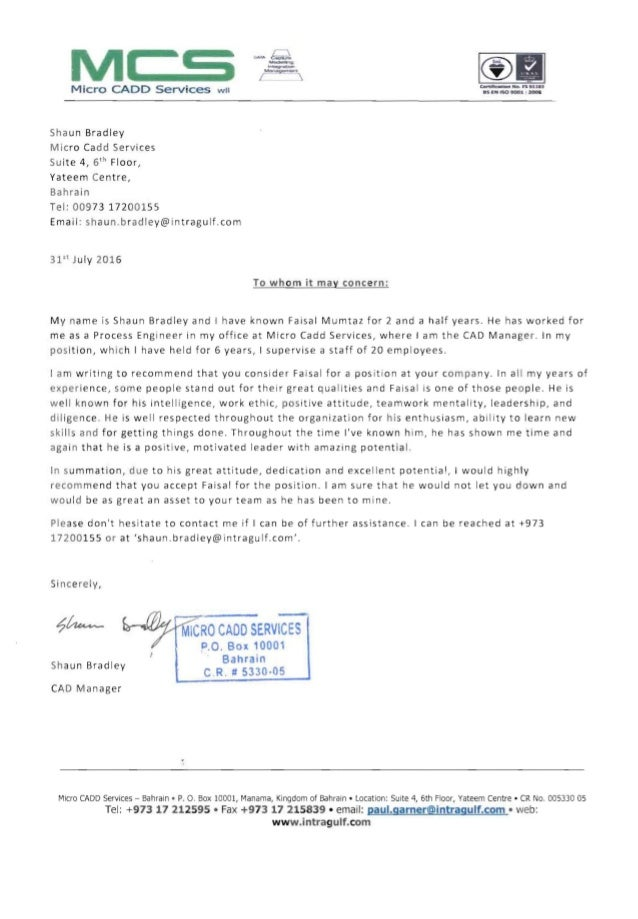 reporting letter