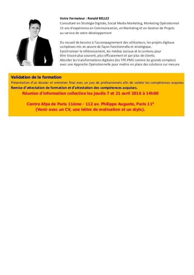 Fiche responsable opérationnel e-commerce AFPA Slide 2