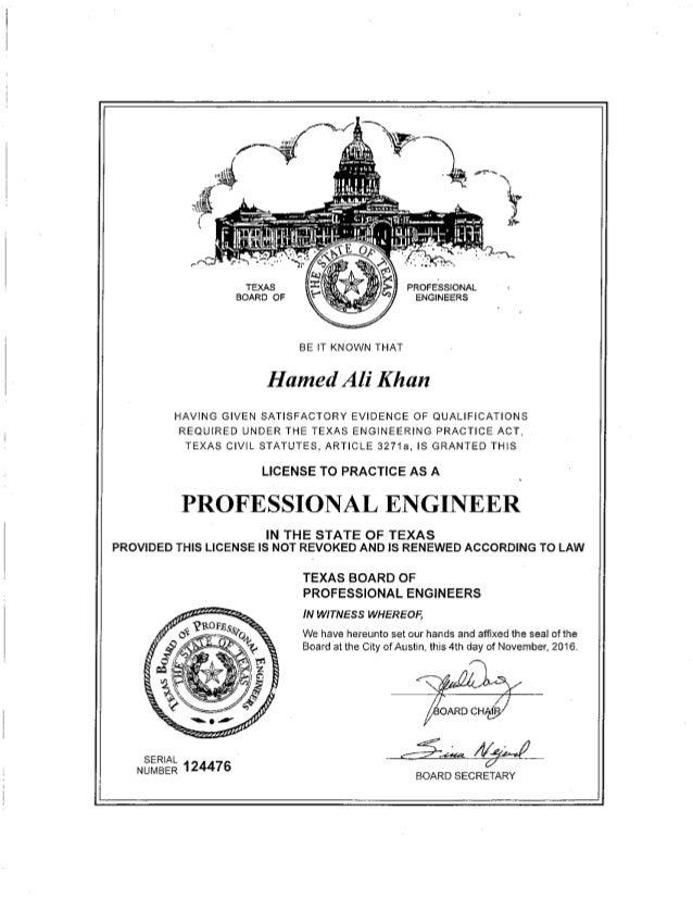 Texas Pe License