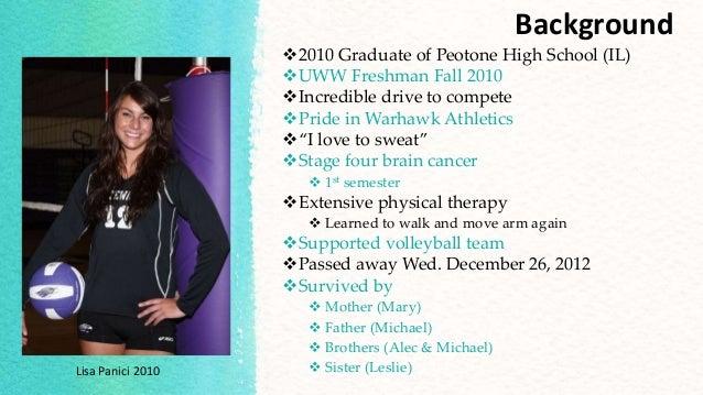 Background 2010 Graduate of Peotone High School (IL) UWW Freshman Fall 2010 Incredible drive to compete Pride in Warha...