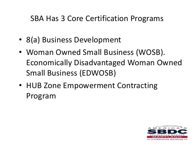 SBA 8(a) Certification for Veteran & Minority Businesses