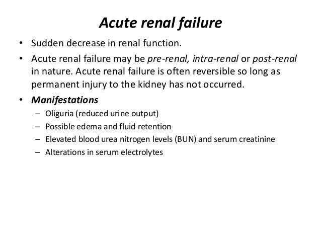 acute renal failure qa essay