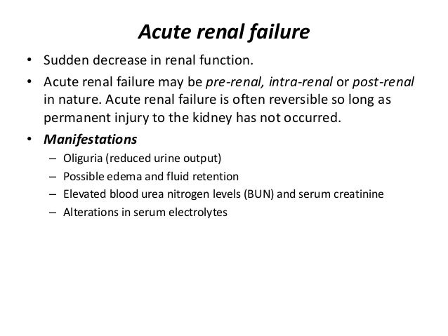 Acute And Chronic Renal Failure