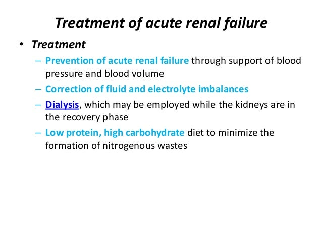 Acute And Chronic Renal Failure