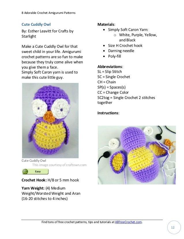 What size crochet hook do I use for amigurumi? | Shiny Happy World | 826x638
