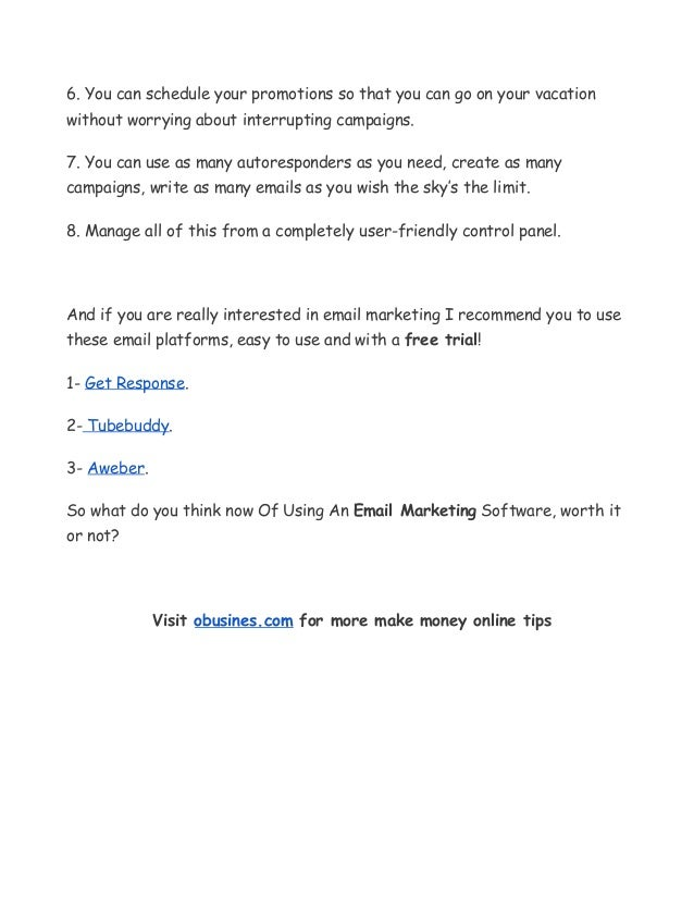8 Advantages Of Using An Email Marketing Software Slide 3