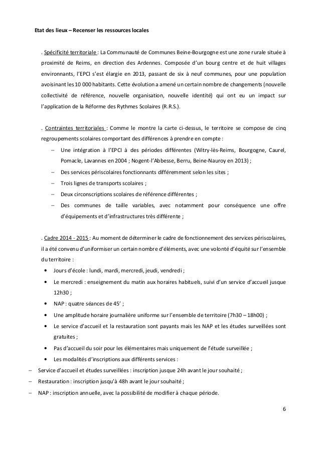 6 Etat des lieux – Recenser les ressources locales . Spécificité territoriale : La Communauté de Communes Beine-Bourgogne ...