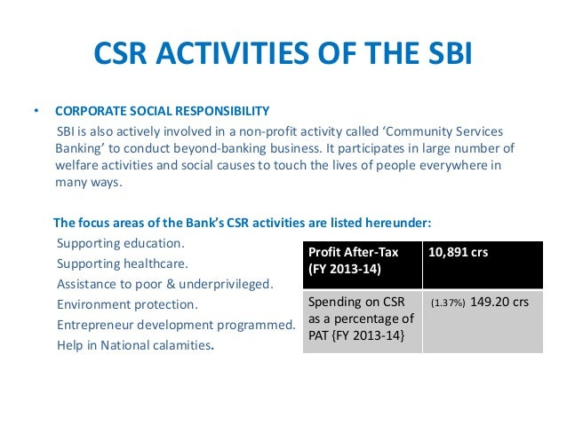 csr sbi The corporate responsibility and sustainability network (crsn) aims to provide a new and open platform that brings together scotland's sustainability professionals.