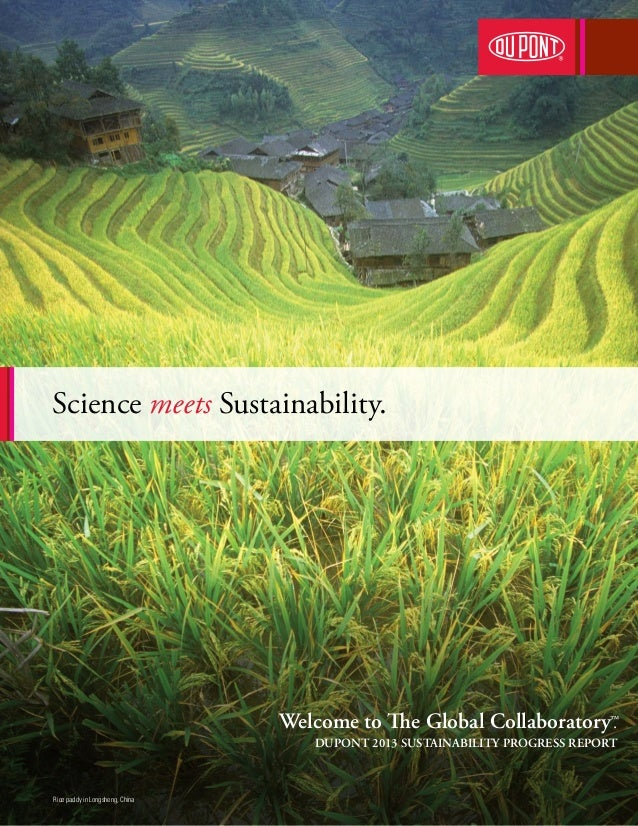 Science meets Sustainability.  . Welcome to The Global Collaboratory™ DUPONT 2013 SUSTAINABILITY PROGRESS REPORT  Rice pad...