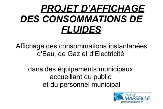 PROJET DAFFICHAGEDES CONSOMMATIONS DEFLUIDESAffichage des consommations instantanéesdEau, de Gaz et dElectricitédans des é...