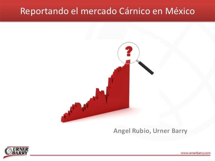 Reportando el mercado Cárnico en México                    Angel Rubio, Urner Barry