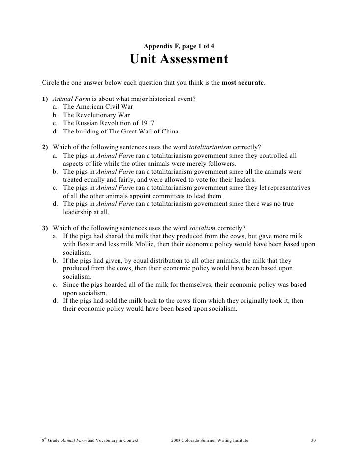 8 animal farm – Animal Farm Worksheets