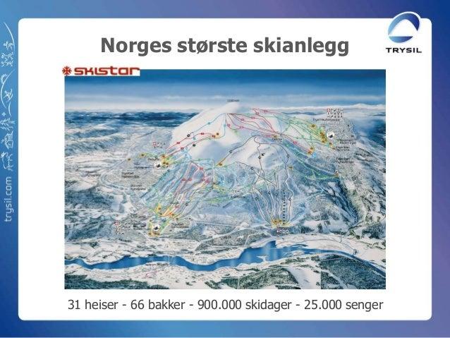 Norges største skianlegg31 heiser - 66 bakker - 900.000 skidager - 25.000 senger