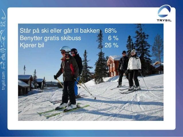 Står på ski eller går til bakken 68%Benytter gratis skibuss 6 %Kjører bil 26 %