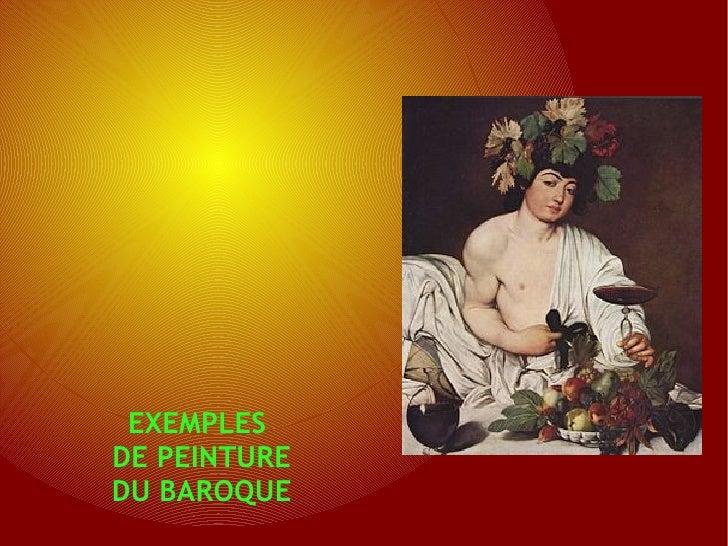 EXEMPLESDE PEINTUREDU BAROQUE