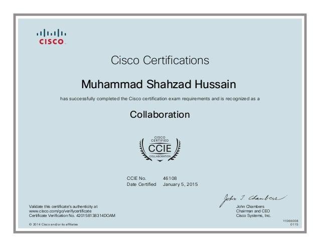 collaboration certificate cisco ccie certification ccnp prochain
