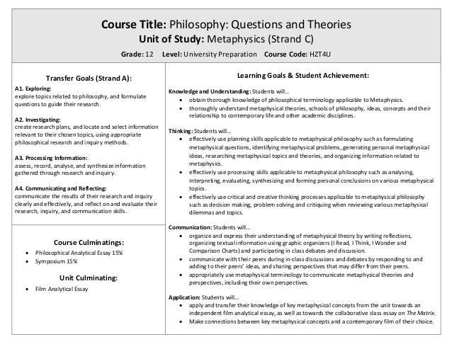 plato vs aristotle metaphysics