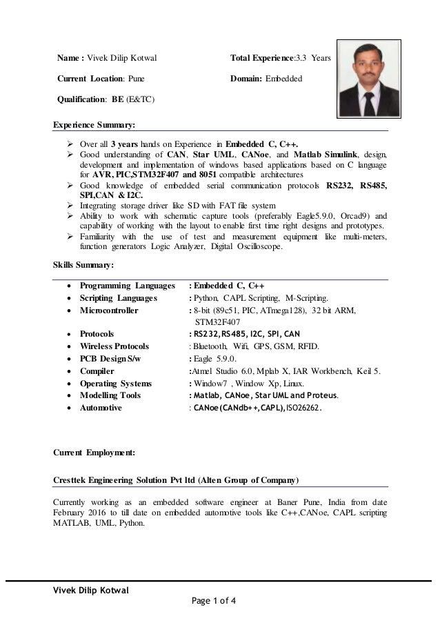Vivek Kotwal Resume