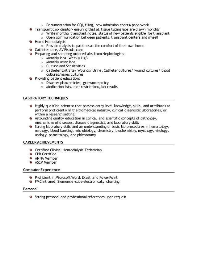 skills listed on resume