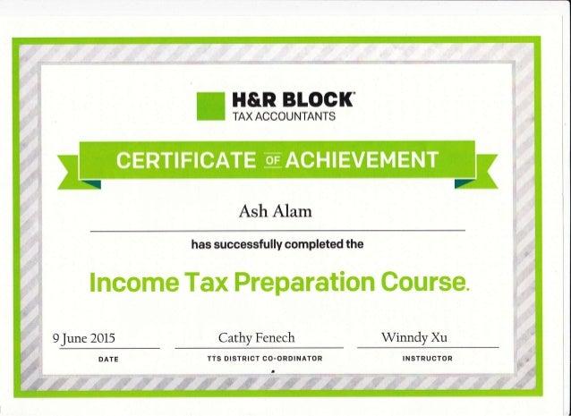 Achievement H R Block