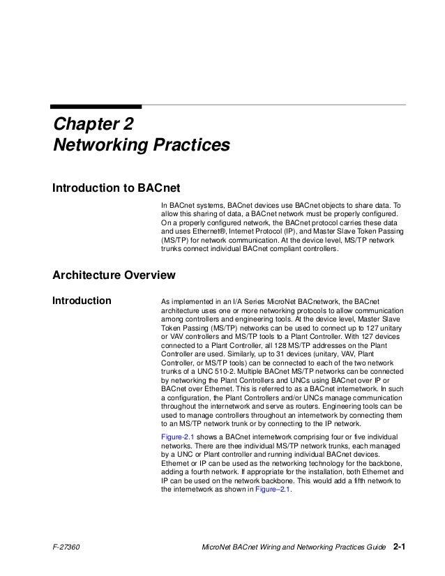 bacnet networking guideBacnet Wiring Guide #11