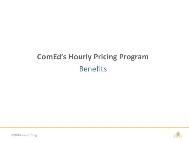 Comed Hourly Pricing >> Csis Elevate Energy 4 20 16 Final V1