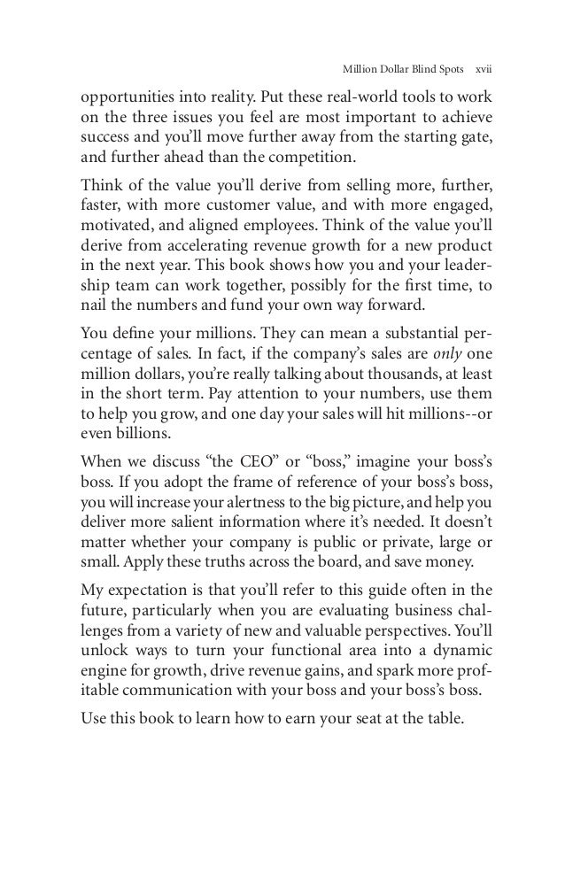 Million Dollar Blind Spots Chapters 1 To 4