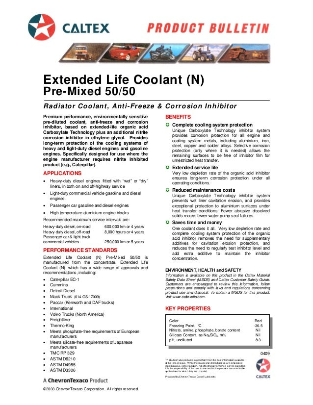 293 - Extended Life Coolant [N] Pre-mixed 50-50