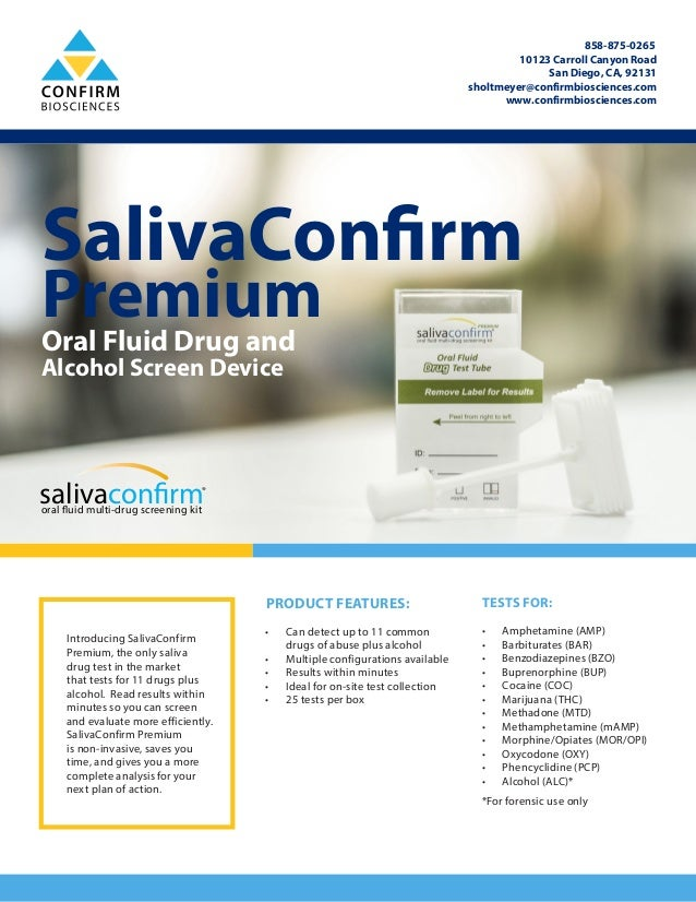 SalivaConfirm Premium Oral Swab Drug Test Kit