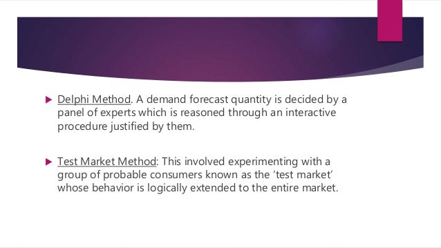 a survey report on demand forecasting About us ihs markit is the leading source of information and insight in critical areas that shape today's business landscape customers around the world rely on us to address strategic and operational challenges.